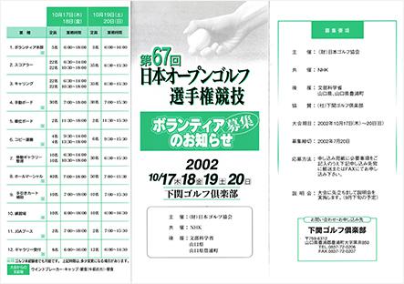 第67回日本オープン(平成14年10月)